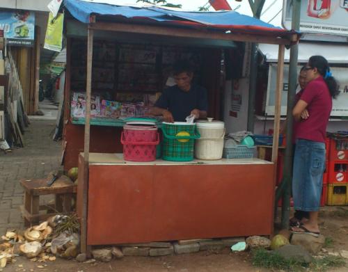 Jakarta coconut stall, Jakarta fruit, Jakarta food, coconut