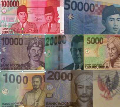 Indoneisa Rupia, Indonesia money, notes
