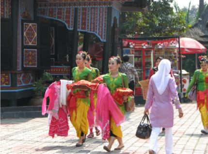 Jakarta one day itinary, Tamam Mini Jakarta, Street performers Jakarta