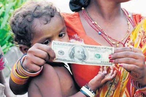 money, poor person with money, beggar, paris hilton