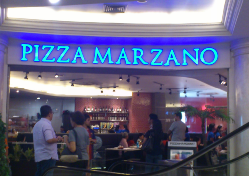 Pizza Marzano, pizza, Indonesia pizza, pizza shop, PIM, Pondok Indah Mal