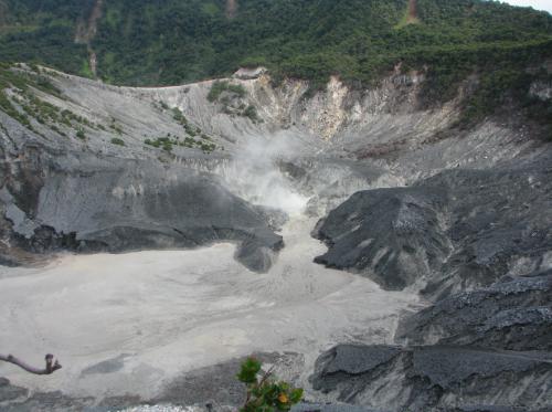 Indonesia volcano, Tangkuban Prahu crater