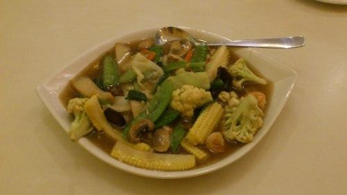 mixed vegetable, stir fried vegetable, red bean restaurant, jakarta