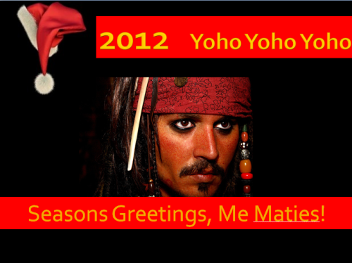 Captain Jack Sparrow 2012 Seasons Greetings