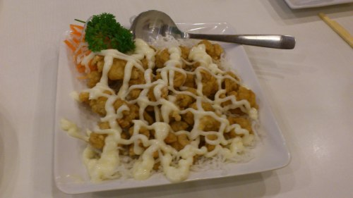 fried prawn, red bean restaurant, jakarta
