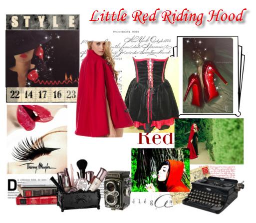 Halloween Diy Costume Little Red Riding Hood Midnight
