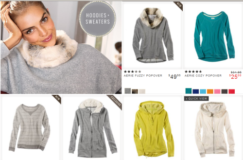 hoodies and tops for winter American Eagle