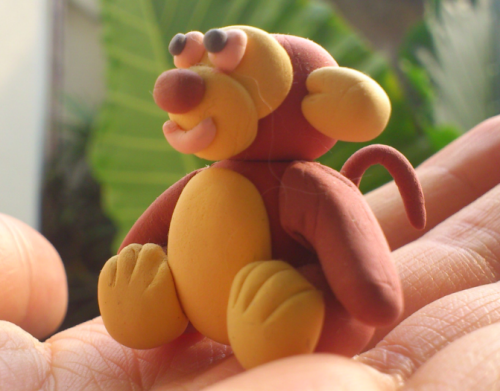 diy craft, diy christmas craft, clay craft, monkey clay