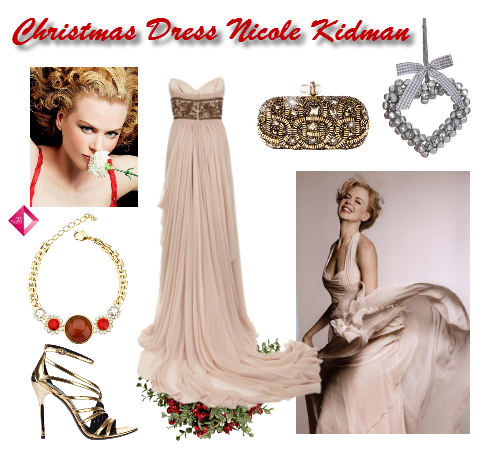 nicole kidman christmas dress, nicole kidman, christmas dress, party dress, actress nicole kidman