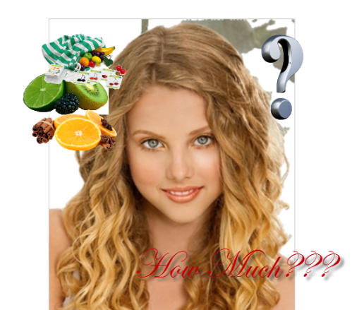 blonde girl and fruit price, jakarta fruit price for expats, jakarta price check