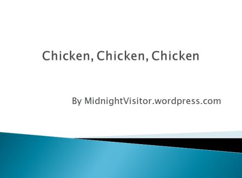 Chicken presentation