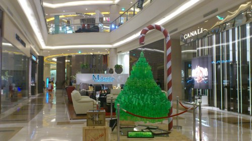 christmas tree green with red and white candy cane
