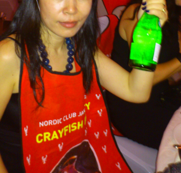 Mrs D at Crayfish Party Jakarta