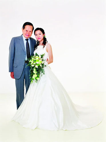 chinese nobel prize winner, old man marries young wife, old man and young woman marriage