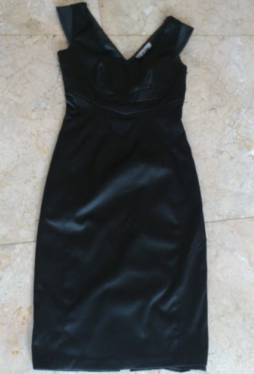 black dress basque full length