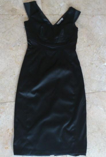 black dress basque full length