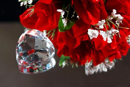 dimond and rose valentine day, valentine's day gift, valentine's day