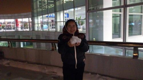 snow ball, making snow ball, winter snow ball, first snow ball