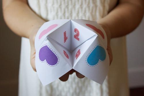 fortune-teller-valentines, DIY VALENTINES DAY Card, valentine's day gift, valentine's day present, valentine's day easy craft