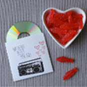 heart shaped cd music mix