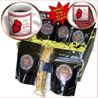 Love Heart Coffee Gift Basket