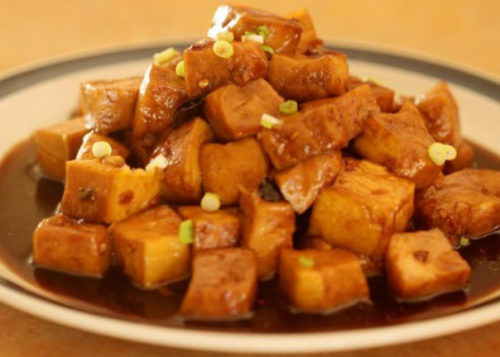 soy sauce tofu, tumis tahu kecap, tofu, tahu